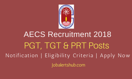 AECS 2018 PGT, TGT & PRT Teaching Posts | Graduation/PG | Apply Now