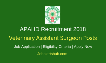 AP Animal Husbandry Department Recruitment 2018 Veterinary Assistant Surgeon Posts – 78 Vacancies | B.V.Sc & AH Degree | Apply Now