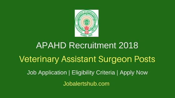 AP Animal Husbandry Department Recruitment 2018 Veterinary Assistant Surgeon Posts – 78 Vacancies | B.V.Sc & AH Degree | Apply Now