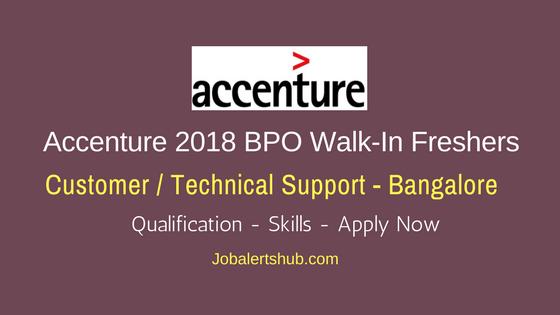 Accenture 2018 BPO Walk-In Freshers   Associate   Bengaluru   Apply Online