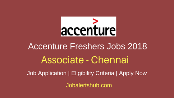 Accenture Freshers Associate 2018 Vacancies | Graduation/PG (Commerce & Finance) | Chennai | Apply Now