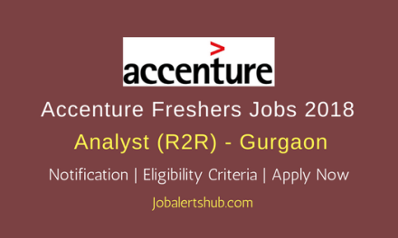 Accenture 2018 Gurgaon Analyst (R2R)/General Accounting Jobs | B.Com/Bba/M.Com, CA | Apply Now