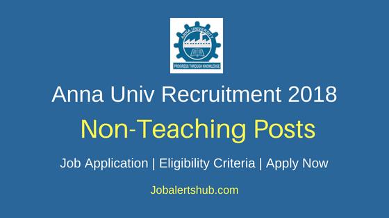 Anna University 2018 Prof. Asst, Clerical Asst., Peon cum Driver, Peon Recruitment – 10 Vacancies | 8th, Degree, B.Tech | Apply Now
