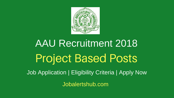 Assam Agricultural University 2018 Project Coordinator, Office Asst, Project Scientist & Other Jobs – 110 Posts | 12th, Degree, Master Degree, PG | Apply Now