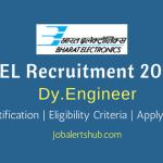 BEL 2018 Deputy Engineer – 23 Vacancies | BE/ B.Tech/ B.Sc | Apply Now