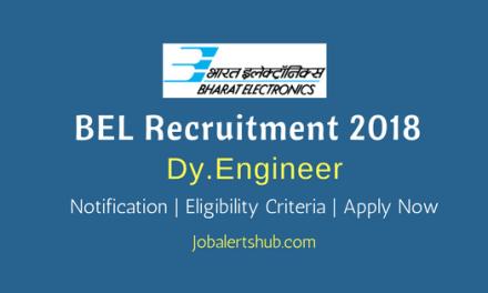 BEL 2018 Deputy Engineer – 23 Vacancies   BE/ B.Tech/ B.Sc   Apply Now
