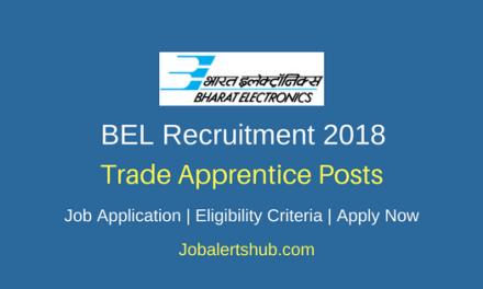 BEL 2018 Trade Apprentice Posts – 150 Vacancies   ITI   Apply Now