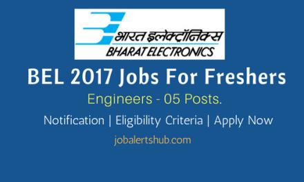 BELOP 2017 Recruitment   Engineers – 05 Vacancies   BE/ B.Tech/ MCS   Apply Now