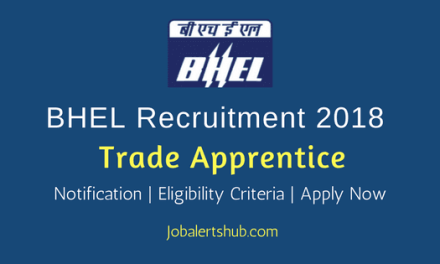 BHEL Tirchy 2018 Trade Apprentice Posts – 918 Vacancies   08th Class & ITI/ 10th/ 12th Class, NCTVT Certificate   Apply Now