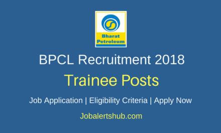 Bharat Petroleum Corporation Ltd (BPCL) 2018 General Workman-B (Trainee) Posts – 44 Vacancies | Diploma | Apply Now