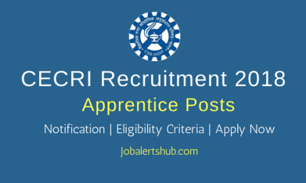 Central Electrochemical Research Institute Apprentice Jobs – 17 Vacancies   ITI/B.Tech   Apply Now