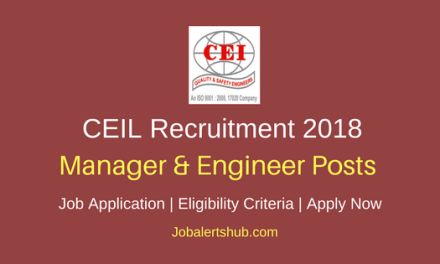 CEIL 2018 Supply Chain Manager & Planning Engineer Posts – 105 Vacancies   Graduation in Engineering   Apply Now
