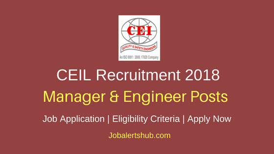 CEIL 2018 Supply Chain Manager & Planning Engineer Posts – 105 Vacancies | Graduation in Engineering | Apply Now