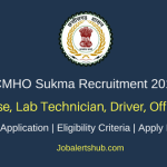 CMHO Sukma 2018 Staff Nurse, Lab Technician, Driver, Officer Posts – 309 Vacancies | 8th, 12th Class, Any Degree | Apply Now