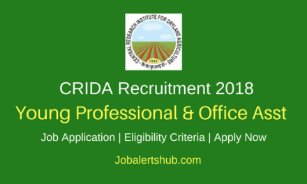 CRIDA 2018 Young Professional & Office Asst Posts – 28 Vacancies   Degree/PG   Apply Now