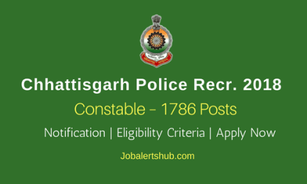 Chhattisgarh Police Posts 2018 | Constable – 1786 Vacancies | 8th/12th | Apply Now @ www.cgpolice.gov.in