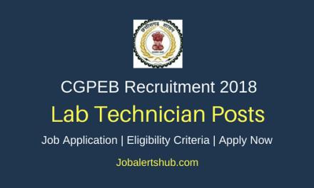 Chhattisgarh Professional Examination Board (CGPEB) 2018 Speech Therapist, LT, Asst, Technician, Lab Supervisor & Other Posts | 10+2, Diploma, Any Degree, PG | Apply Now