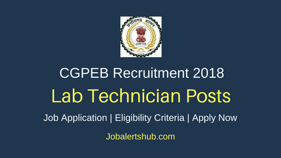 Chhattisgarh Professional Examination Board (CGPEB) 2018 Speech Therapist, LT, Asst, Technician, Lab Supervisor & Other Posts | 10+2, Diploma, Any Degree, PG | Apply Now