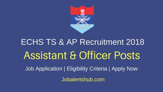 Ex-Servicemen Contributory Health Scheme ECHS Telangana and Andhra Pradesh Recruitment 2018 Nur Asst, Med Offr & Other Posts – 102 Vacancies | Apply Now