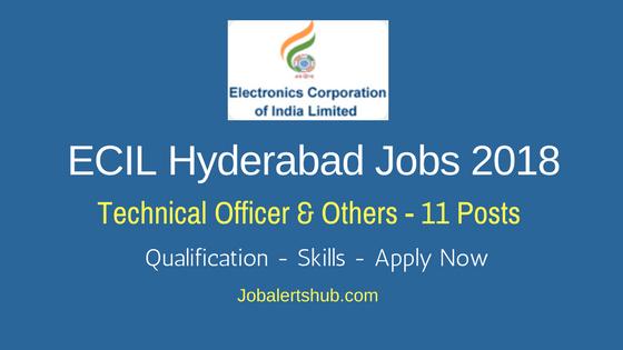 ECIL Hyderabad Jobs 2018 | Technical Officer, Scientific Asst & Jr Artisan – 11 Vacancies | Diploma/Degree | Apply Now