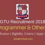 Gujarat Technological University Asst, Programmer & Other 2018 – 32 Vacancies | Degree/PG/Ph.D | Apply Now