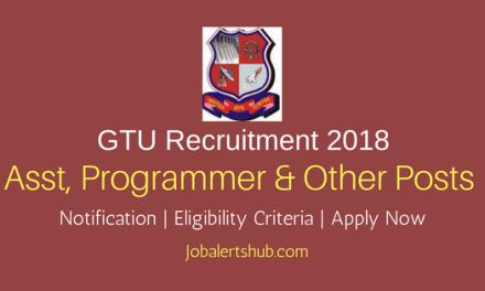 Gujarat Technological University Asst, Programmer & Other 2018 – 32 Vacancies   Degree/PG/Ph.D   Apply Now