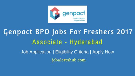 Genpact Recruitment 2017 Freshers | Associate | Graduate | Hyderabad