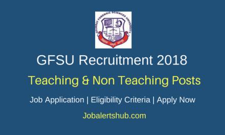 Gujarat Forensic Sciences University (GFSU) 2018 Directors, Professors, Associate Professors, Assistant Professors and Assistant Engineer Posts – 18 Vacancies   B.E/B.Tech/Master Degree/Ph.D   Apply Now