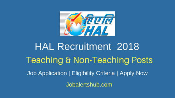 HAL Education Committee Recruitment 2018 | PRT, Teacher, Counselor, Ayah, Attender  – 26 Posts | 10th/Degree/PG | Apply Now