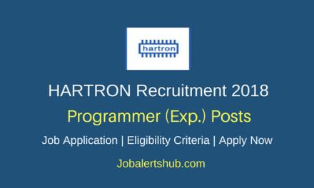 HARTRON 2018 Programmer Experienced Posts – 35 Vacancies | B.E/B.Tech/ M.sc | Apply Now