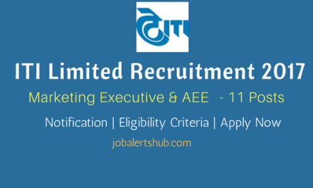 ITI Limited Recruitment 2017   Marketing Executive & AEE – 11 Vacancies   B.Tech/MBA   Apply Now