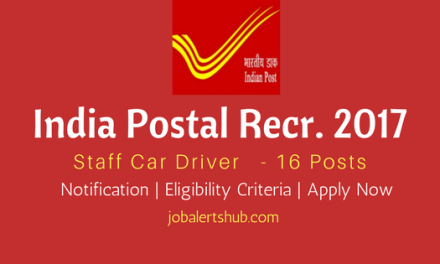India Post Recruitment 2017   Staff Car Driver – 16 Vacancies   10th Class   Apply Now