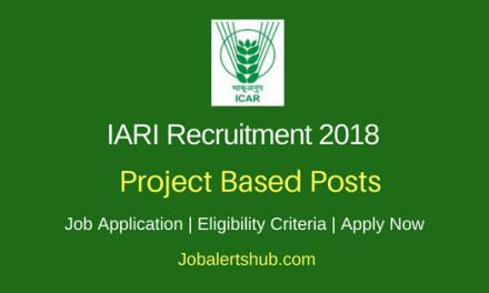 ICAR – Indian Agricultural Research Institute (IARI) Recruitment 2018 Young Professional & JRF Posts – 05 Vacancies | 12th,Any Degree, PG | Walkin