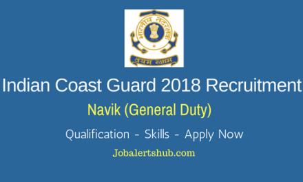 Indian Coast Guard Navik (Cook & Steward) Posts 2018   10th Class   Apply Now