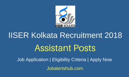 Indian Institute Of Science Education And Research (IISER) Kolkata 2018 Recruitment Junior Assistant, Attendant, Accounts Officer & Other Posts – 20 Vacancies   10th/ITI, Degree, Master Degree   Apply Now