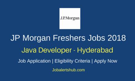 JP Morgan Hyderabad Java Developer Freshers Jobs 2018 | B.Tech | Apply Now