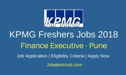 KPMG Freshers Finance Executive 2018 Vacancies | Noida | B.Com | Apply Now
