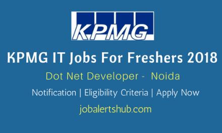 KPMG Recruitments 2018   Dot Net Developer   UG/PG   Noida   Apply Now