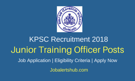 Karnataka PSC 2018 Junior Training Officer Posts – 1520 Vacancies | Diploma | Apply Now
