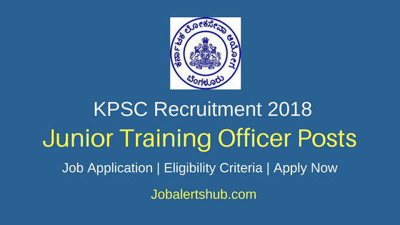 Karnataka PSC 2018 Junior Training Officer Posts – 1520 Vacancies | Diploma | Apply Now