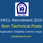 Konkan Railway Corporation Limited (KRCL) 2018 Station Master, Goods Guard, Accounts Asst & Sr Clerk Posts – 113 Vacancies | Any Graduation | Apply Now