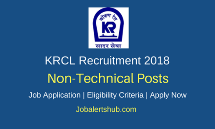 Konkan Railway Corporation Limited (KRCL) 2018 Recruitment Junior Scale Executives Posts – 06 Vacancies | Bachelor's Degree, MBA, CA/CMA | Apply Now