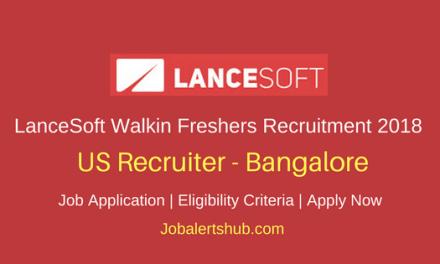 LanceSoft India 2018 Walkin Bangalore US Recruiter Fresher Jobs – 50 Vacancies | Any Graduation | Walkin: 4th May'18