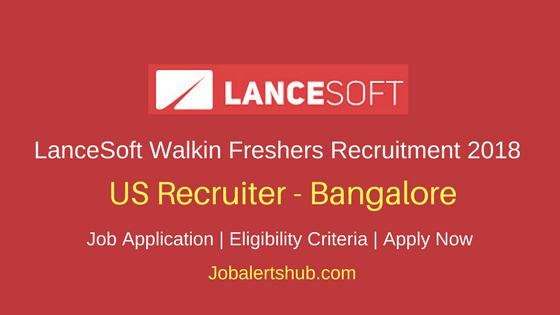 LanceSoft India 2018 Walkin Bangalore US Recruiter Fresher Jobs – 50 Vacancies   Any Graduation   Walkin: 4th May'18