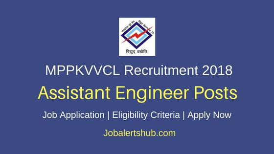 Madhya Pradesh Madhya Kshetra Vidyut Vitaran Company Limited (MPPKVVCL) Recruitment 2018 Asst Engineer Posts – 20 Vacancies | B.Tech + GATE | Apply Now