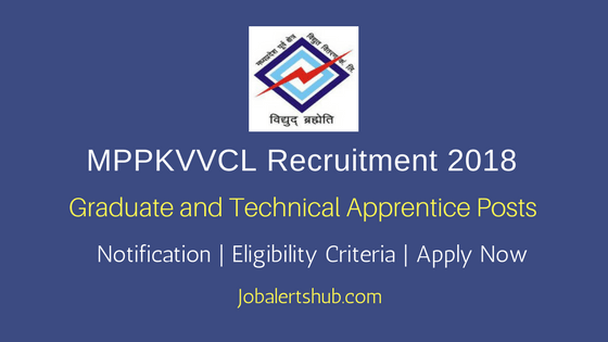 MPPKVVCL Jabalpur Graduate and Technical Apprentice 2018 Posts – 37 Vacancies | Diploma/B.Tech | Apply Now