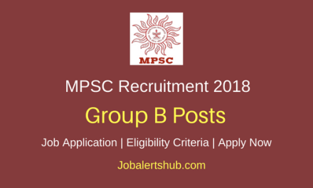 Maharashtra Public Service Commission (MPSC) Recruitment 2018 Jr Scientific Officer/ Chief Chemist/ Research Officer Jobs – 13 Posts | Degree/Master Degree | Apply Now