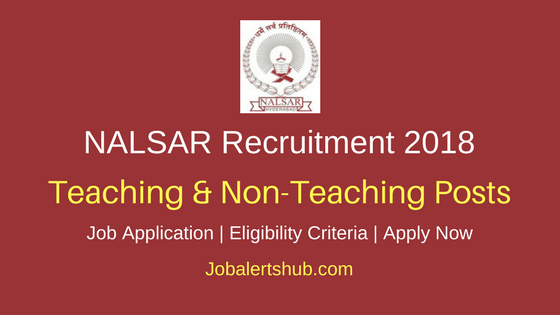 NALSAR University of Law Recruitment Professor, Assistant Professor, Placement Officer &Other Posts – 35 Vacancies   Masters Degree, Ph.D, CA/ ICWA/ CMA   Apply Now
