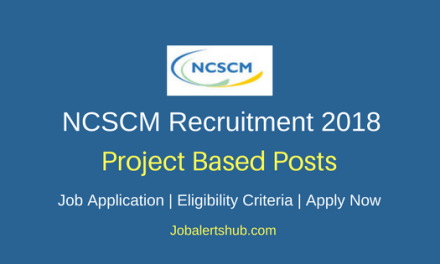 National Centre for Sustainable Coastal Management 2018 Scientist, Engineer, Librarian, Assistant & Accountant Posts – 21 Vacancies | Diploma, Graduate, Master Degree | Apply Now