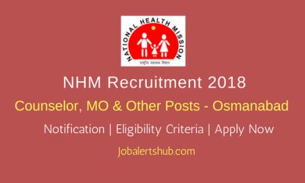 NHM Osmanabad Health Asst, Staff Nurse & Others – 101 Vacancies   Graduation/PG   Apply Now